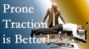 Toronto spinal traction applied lying face down – prone – is best according to the latest research. Visit Yorkville Chiropractic and Wellness Centre.