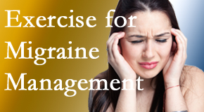 Yorkville Chiropractic and Wellness Centre incorporates exercise into the chiropractic treatment plan for migraine relief.