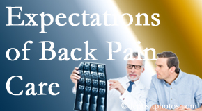 The pain relief expectations of Toronto back pain patients influence their satisfaction with chiropractic care. What is realistic?