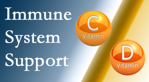 Yorkville Chiropractic and Wellness Centre presents details about the benefits of vitamins C and D for the immune system to fight infection.
