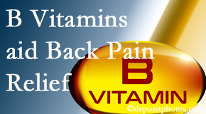 Yorkville Chiropractic and Wellness Centre may include B vitamins in the Toronto chiropractic treatment plan of back pain sufferers.