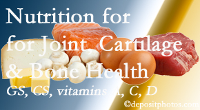 Yorkville Chiropractic and Wellness Centre describes the benefits of vitamins A, C, and D as well as glucosamine and chondroitin sulfate for cartilage, joint and bone health.
