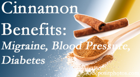 Yorkville Chiropractic and Wellness Centre shares research on the benefits of cinnamon for migraine, diabetes and blood pressure.