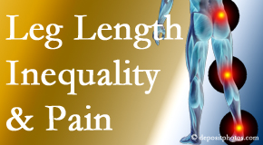 Yorkville Chiropractic and Wellness Centre tests for leg length inequality as it is related to back, hip and knee pain issues.