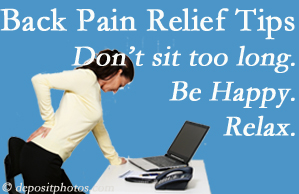 Yorkville Chiropractic and Wellness Centre reminds you to not sit too long to keep back pain at bay!