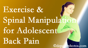 Yorkville Chiropractic and Wellness Centre uses Toronto chiropractic and exercise to help back pain in adolescents.