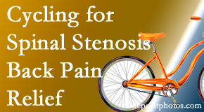 Yorkville Chiropractic and Wellness Centre encourages exercise like cycling for back pain relief from lumbar spine stenosis.