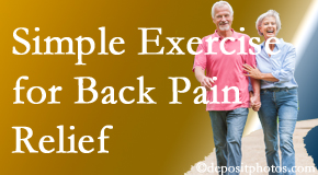 Yorkville Chiropractic and Wellness Centre encourages simple exercise as part of the Toronto chiropractic back pain relief plan.