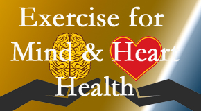A healthy heart helps maintain a healthy mind, so Yorkville Chiropractic and Wellness Centre encourages exercise.
