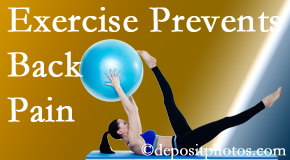 Yorkville Chiropractic and Wellness Centre encourages Toronto back pain prevention with exercise.