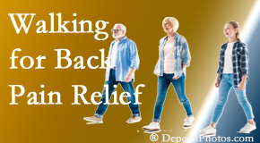 Yorkville Chiropractic and Wellness Centre often recommends walking for Toronto back pain sufferers.