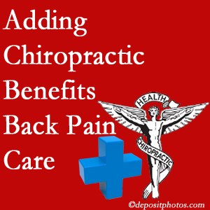 Added Toronto chiropractic to back pain care plans helps back pain sufferers.