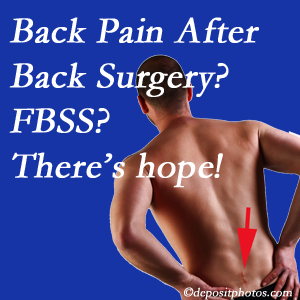 Toronto chiropractic care offers a treatment plan for relieving post-back surgery continued pain (FBSS or failed back surgery syndrome).