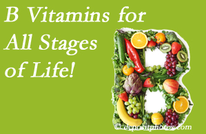 Yorkville Chiropractic and Wellness Centre suggests a check of your B vitamin status for overall health throughout life.