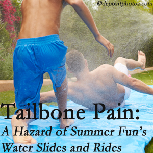 Yorkville Chiropractic and Wellness Centre offers chiropractic manipulation to ease tailbone pain after a Toronto water ride or water slide injury to the coccyx.