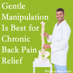 Gentle Toronto chiropractic treatment of chronic low back pain is best.