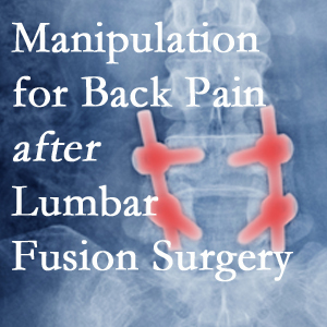 Toronto chiropractic spinal manipulation helps post-surgical continued back pain patients discover relief of their pain despite fusion.