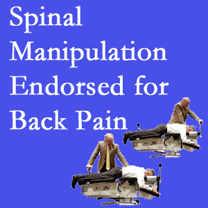 Toronto chiropractic care includes spinal manipulation, an effective,  non-invasive, non-drug approach to low back pain relief.