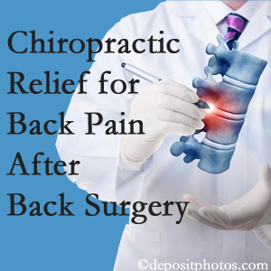 Yorkville Chiropractic and Wellness Centre offers back pain relief to patients who have already undergone back surgery and still have pain.