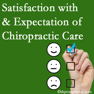 Toronto chiropractic care delivers patient satisfaction and meets patient expectations of pain relief.