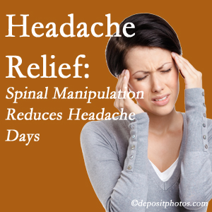 Toronto chiropractic care at Yorkville Chiropractic and Wellness Centre may reduce headache days each month.
