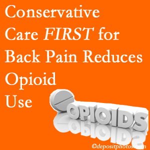 Yorkville Chiropractic and Wellness Centre delivers chiropractic treatment as an option to opioids for back pain relief.